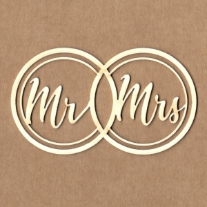 Chipboard Anillos Mr and Mrs