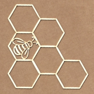 Chipboard Panal con abeja