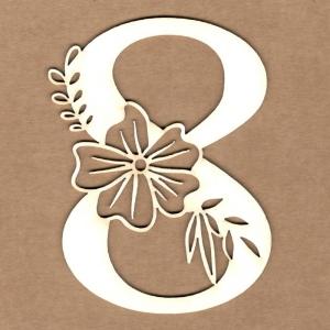 Número floral 8