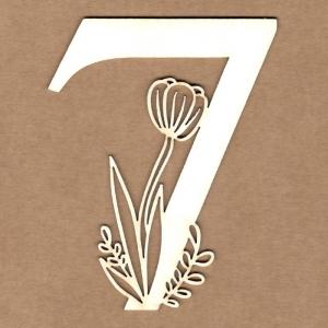 Número floral 7