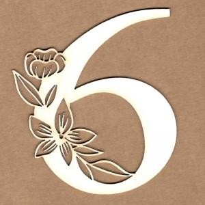 Número floral 6