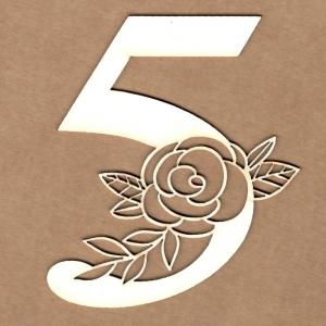 Número floral 5