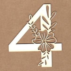 Número floral 4