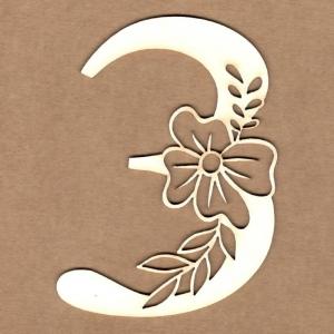Número floral 3