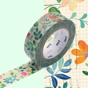 Washi Tape WaterColor flower mt