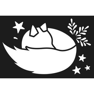 Plantilla estarcido Isatis zorro dormido