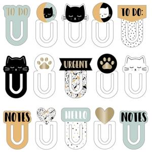 15 marcapáginas cartón Terrazo cat