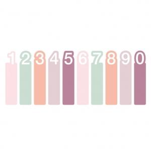Notas adhesivas números