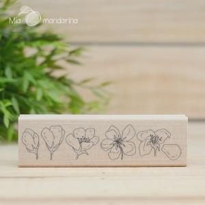 Sello Flores de manzano 4.5 x 13.5 cm