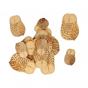 Surtido 30 piezas Isatis buho madera