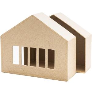 1 Caja casita Mod.3 ancha cartón craft