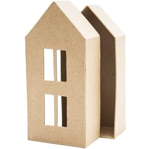 1 Caja casita Mod.2 alta cartón craft