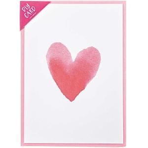 Kit tarjeta blanca corazón