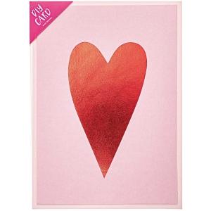 Kit tarjeta rosa corazón