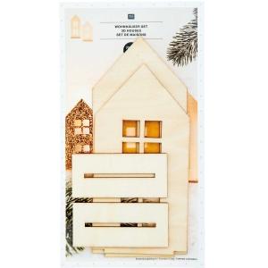 2 siluetas 3D casas rectas