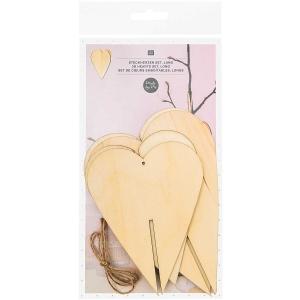 2 siluetas 3D corazones grandes