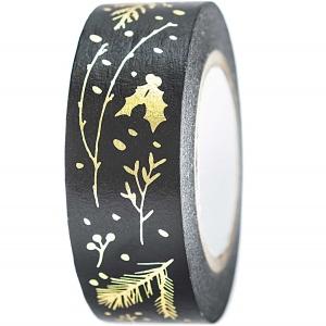 Washi tape Negro ramas