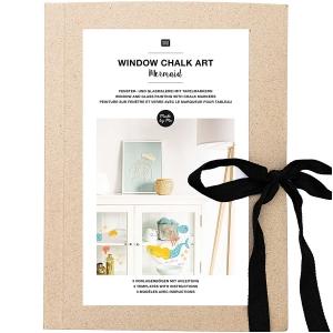 Plantillas papel Window chalk art - Mermaid