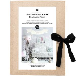 Plantillas papel Window chalk art - Spring