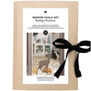 Plantillas papel Window chalk art - Nostalgic Xmas