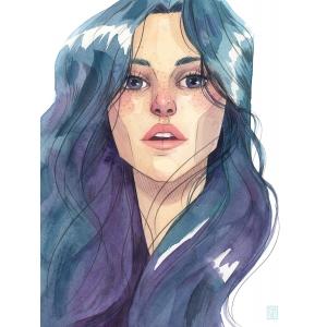 Casi Azul - Lámina 15x20 Esther Gili