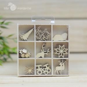 27 Mini siluetas Navidad Hohoho