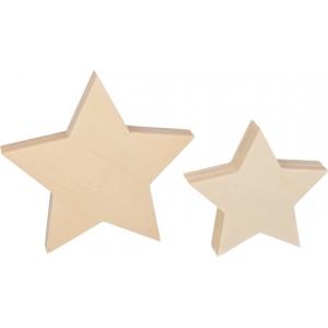 2 estrellas madera