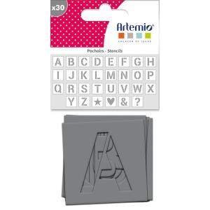 30 Plantillas estarcido alfabeto 6cm