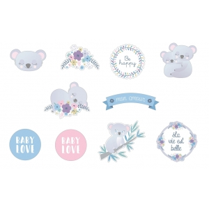 50 Pegatinas washi precortadas My little baby
