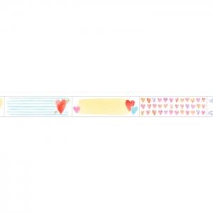 Washi tape Título corazones precortado