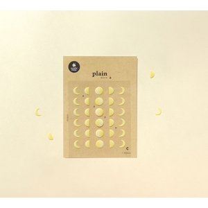 1 Hoja Pegatinas Plain 10
