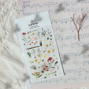 1 Hoja Pegatinas flower letter