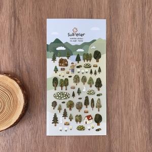 1 Hoja Pegatinas forest