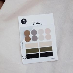 3 Hojas Pegatinas Plain 43