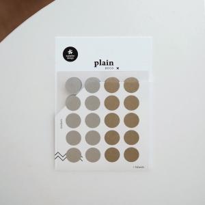 3 Hojas Pegatinas Plain 38