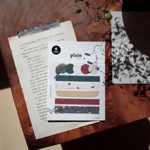 3 Hojas Pegatinas Plain 31