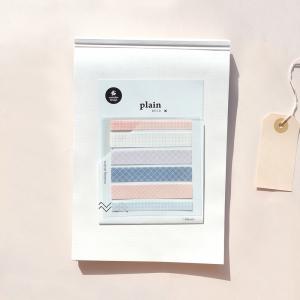 3 Hojas Pegatinas Plain 06