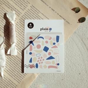 3 Hojas Pegatinas Plain 18