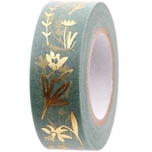 Washi tape Flower hop mint