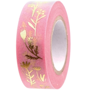 Washi tape Flower hop pink