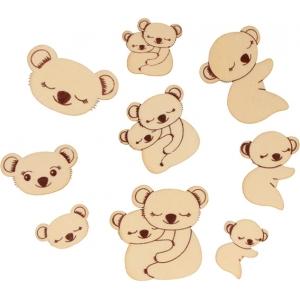 Surtido 24 piezas koala madera