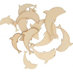 Surtido 30 piezas delfines madera