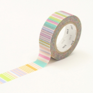 Washi Tape Multi Border Pastel mt