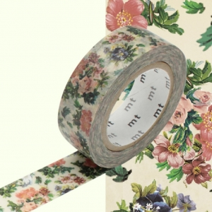 Washi Tape Mini flower botanical art mt