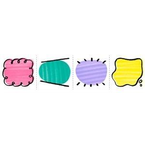 Washi tape bocadillos precortado
