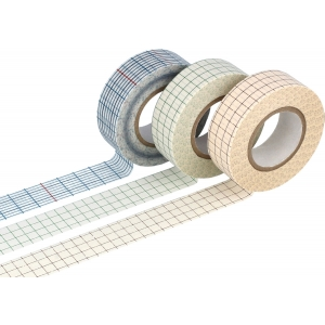 3 Washi tape Grid 18x15
