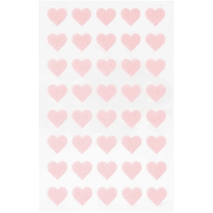 1 hojas pegatinas fieltro - corazones rosas