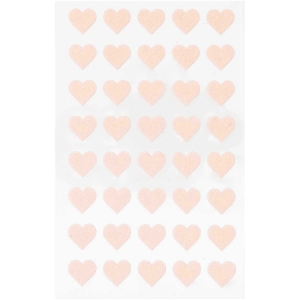 1 hojas pegatinas fieltro - corazones beige-rosados