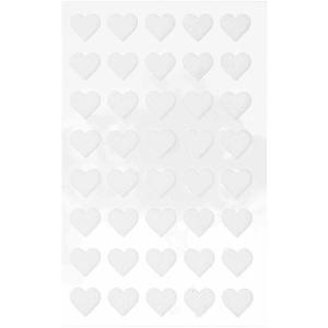 1 hojas pegatinas fieltro - corazones blancos