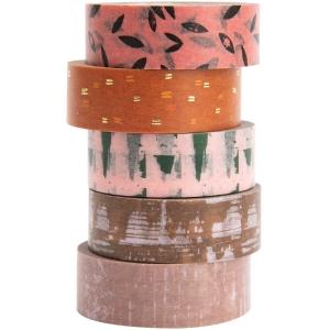 5 Washi tape Nature mat. structure